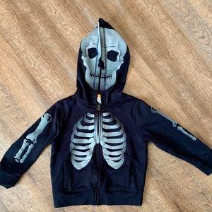 Skeleton hoodie 5t Baby Gap